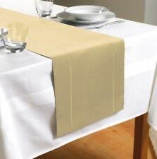 NUOVO Orlo Stitch Design Table Runner-Crema - (TAB112799)