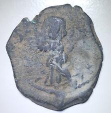 Byzantine Empire Constantine IX 1042-1055 AE Follis (Overstruck), 9.30g