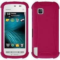 AMZER Silicone Soft Skin Jelly Case Cover for Nokia Nuron 5230 - Hot Pink