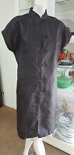 Empire Rose shirt dress.Sz14.Silk.Outer wear as light coat or dress.As new cond