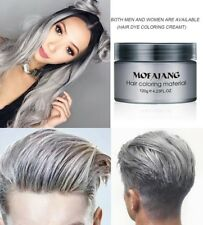 Hair Wax Silver Grey Color Unisex Styling Men Women Natural Hairstyle Cream Gel