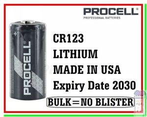 batteria cr123a 3v litio cr123 procell 123 5018LC 6205 cr17345 scegli quantità