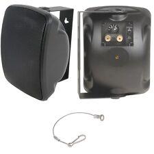 "QUALITY 4"" 40W Black Outdoor Garden Speaker *100V & 8ohm* IP44 Wall / Background"