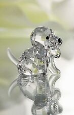 SWAROVSKI CRYSTAL BEAGLE PUPPY SITTING 158418 MINT BOXED RETIRED RARE