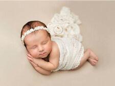 Newborn Pearl Lace Headband Pearl Tieback baby headband newborn photography prop