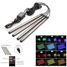 4x 18 LED USB Multi-color  RGB Strips Sound Activated Car Interior Music Lights