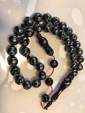 Tesbih Ates Kehribar Kirmizi/ Gümüs Islemeli Tesbih / Gebetskette /Rosary