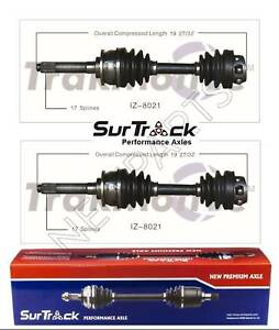 2 Front CV Axle Shafts SurTrack for Isuzu VehiCROSS 4WD 99-01 w/o IB Joint
