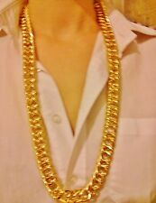 "28"" 15mm Gold Plated Hip Hop Al Gangster Chain BLgiftshop Necklace Birthday Gift"