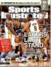 May 17, 2004 Tim Duncan Kobe Bryant Karl Malone Sports Illustrated NO LABEL 1A