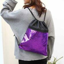 Drawstring Leisure Backpack Backpack Bag Cute Casual Portable Sequin Surface FA
