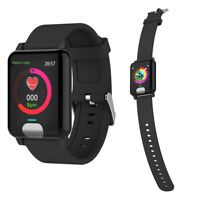 BLACK Smart Wrist Watch ECG PPG Detection Blood Pressure Smartwatch Heart Rate