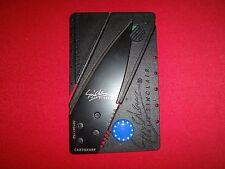 EUROPEAN UNION Flag Sinclair Credit Card Folding Knife *New, Never Used*