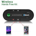 Wireless Bluetooth Hands Free Car Kit Speakerphone Speaker Phone Visor Clip USA