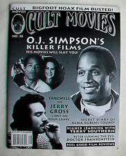 No. 38 CULT MOVIES O.J. Simpson Peter Cushing Jerry Gross Long Chaney Jr Bigfoot