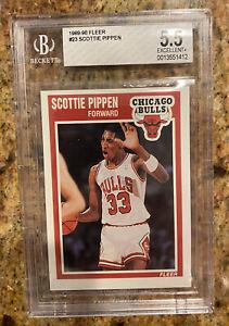 1989-90 Fleer Scottie Pippen Basketball Card #23 BGS 5.5 Chicago Bulls 2nd Year