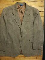 Pendleton Mens Sport Coat Blazer Size 48R Wool Jacket 2 Button Cowboy Western