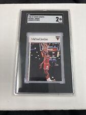 1986 Super Canasta Spanish Sticker Michael Jordan ROOKIE RC SGC 2 GD
