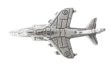 RAF Hawker Siddeley Harrier Pin Badge Hand Made in Polished English Pewter