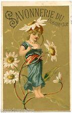 CHROMO.  SAVONNERIE DU COSMYDOR . Fée Marguerite .Fleurs .Fairy . Flowers