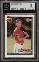 Rare 1991 Topps Tiffany #333 Chipper Jones Rookie RC BGS 9 Mint Low Population