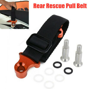 135mm-350mm Adjustable Universal Motocycle Rear Pull Handle Lift Tow Strap Belt
