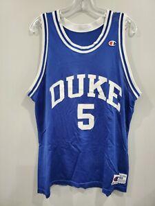 Rare VTG 90s Champion Duke Blue Devils Jeff Capel 5 Jersey Men 48 XL 2Pac Tupac