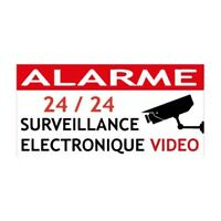 Autocollants maison surveillance electronique alarme 11