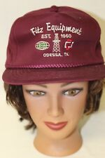 Fitz Equipment Odessa Texas Oil Drilling Baseball Trucker Cap Hat Snapback
