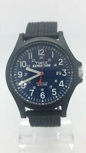 Timex Expedition Indiglo 905 WR50M Men's Quartz Watch Black Canvas Band