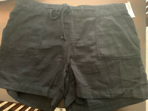 NWT Old Navy Mid-Rise SOFT Pull-On Utility Shorts for Women  Black  XXL