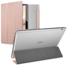 Smart Cover piel sintética para Huawei MediaPad t3 10 Rosegold funda protectora bolso