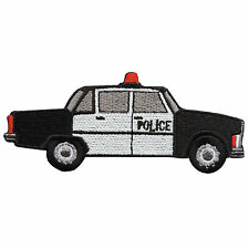 Police Car Siren Ambulance Swat Classic Kids Children Iron on Patches #MC027