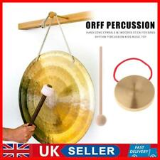 More details for 21cm hand gong copper cymbals with wooden stick percussion kids music toys uk