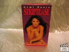 Striptease VHS Demi Moore Unrated Version