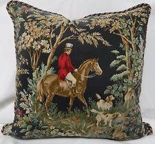 RALPH LAUREN Ainsworth Equestrian - Onyx-Decorative Pillow Cover /18x18