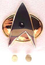 Star Trek:Next Gen Metal Communicator Pin & Lieutenant Rank Pip Set of 3