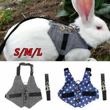 More details for small animals harness leash cat puppy ferret squirrel rat rabbit clothes s/m/l