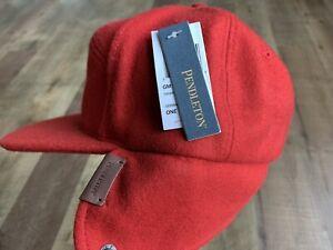 PENDLETON - Timberline Hat - 100% Wool - Red - Ear Flaps - Filson - Vintage