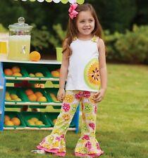 Mud Pie Baby TUTTI Frutti Citrus Tank Top & Pant Set 1112148 Sizes 06 Months-2t 12-18 Months