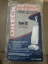 4-Pack Oreck Type CC Hypo-Allergenic Odor Fighting Charcoal Filter Bags CCPK40F
