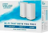 NEW Linksys Velop Dual Band Whole Home Wi-Fi System 2 Pack White AC2600