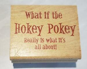 DIFFUSION RUBBER MOUNTED STAMP HOKEY POKEY