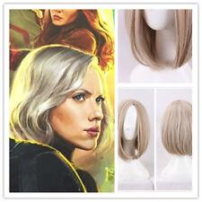 US! Avengers Infinity War Black Widow Natasha Blonde Bobo Wig Cosplay Costume