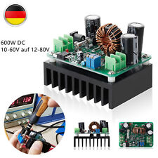 15A 600W DC 10-60V to 12-80V Boost Converter Step-up Wandler Module Power Supply