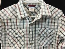 Gymboree Built For Speed Boy's 3T Long Sleeve Button Down Shirt Checked Plaid