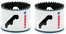 """(Lot Of 2) NEW Lenox 3004141L 2 9/16"""" Dia Bi-metal Speed Slot Hole Saw T3 TEC"""