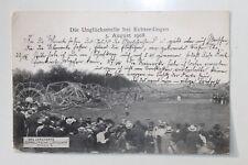 29980 AK Zeppelin Modell 4 Katastrophe Luftschiff Unglück Echterdingen 5.8.1909