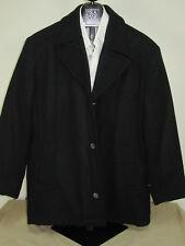 New Jos A Bank Classic solid black wool blend carcoat XXL regular jacket