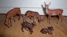 lot of 5 vintage prewar Lineol roe deer / doe family animal figure lot 2